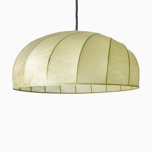 Mid-Century Modern Italian Round Cocoon Pendant Lamp, 1960s