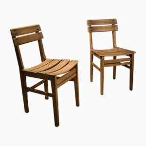 Grey Beech Chairs from Naether, 1920s, Set of 2