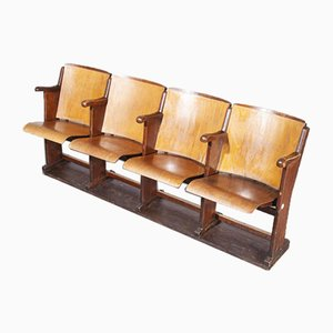 Italian Cinema 4-Seat Bench, 1950s