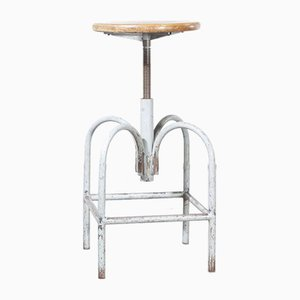 Industrial Swivelling Stool Model 3 from Heliolithe, France, 1950s
