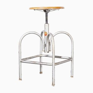 Industrial Swivelling Stool Model 2 from Heliolithe, France, 1950s