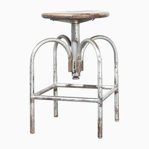 Industrial Swivelling Stool Model 1 from Heliolithe - France, 1950s