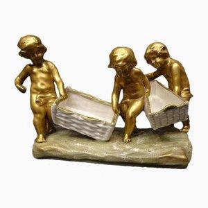 Antike österreichische Skulptur aus Porzellan