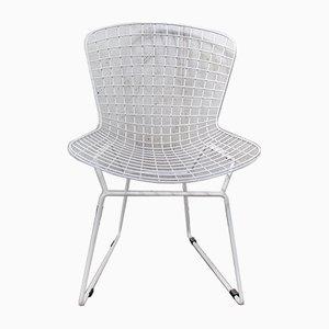Esszimmerstühle aus weißem Draht, 2er-Satz