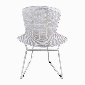 White Wire Dining Chairs, Set of 2