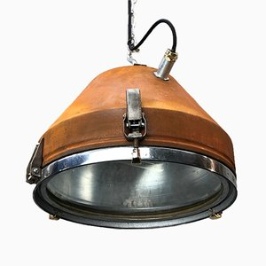 Mid-Century Industrial German Pendant Lamp from VEB, 1950s