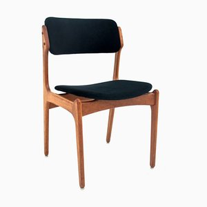 Danish Teak Model 49 Dining Chairs by Erik Buch, 1970s, Set of 4