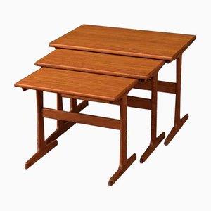 Teak Veneer Side Table, 1960s