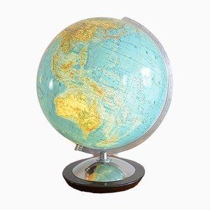 Globe Terrestre Illuminé en Verre de Columbus Verlag Paul Oestergaard, 1950s