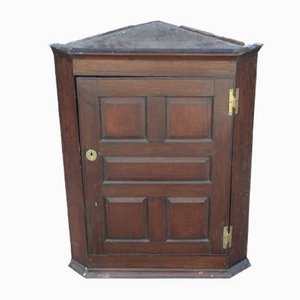 Walnut Corner Cupboard with Hinges, 1940s