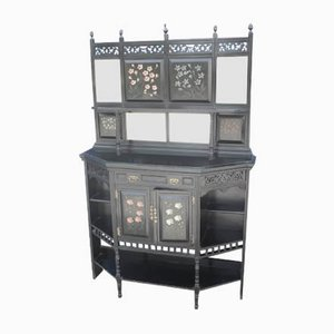 Large Aesthetic Black Sideboard with Back, 1920s