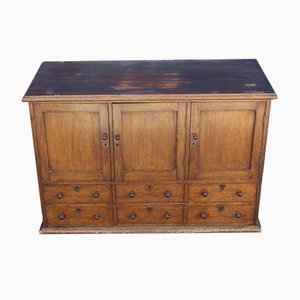 Mahogany Cupboard and Drawer Chest, 1910s