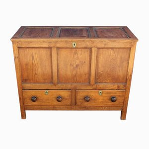 Oak Mule Chest with Drawers, 1910s