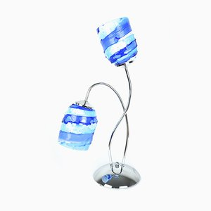 Murano Glass Lamp Blue Sbruffo from Made Murano Glass