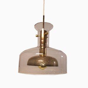 Lámpara colgante de vidrio de Anders Pehrson para Ateljé Lyktan, años 60