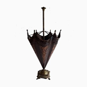 Vintage German Bronze, Brass and Copper Umbrella Stand, 1960s