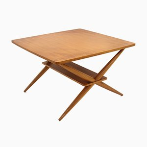 Table Basse Style Scandinave Ajustable en Teck, 1960s