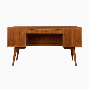 Walnut Veneer Desk, 1950s
