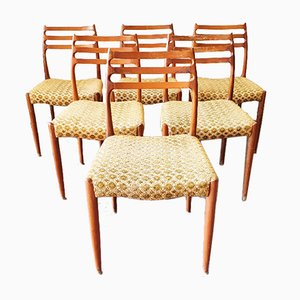 Model 78 Chairs from J.L. Møllers, 1960s, Set of 6