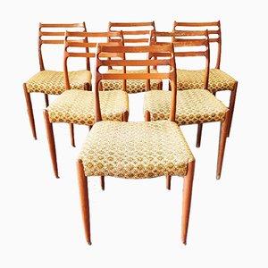 Modell 78 Stühle von JL Møllers, 1960er, 6er Set