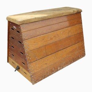 Vintage Turnbock aus Eichenholz mit Verstellbarer Höhe, 1920er