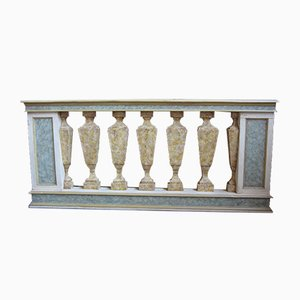 Antique Lacquered Balustrade Room Divider