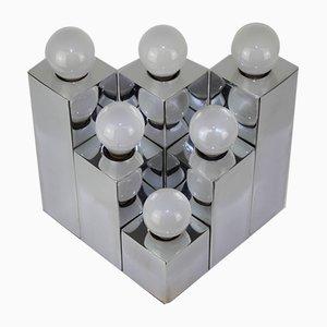 Lámparas de pared cubistas de Gaetano Sciolari para Sciolari, años 60. Juego de 2