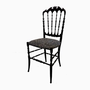 Mid-Century Chiavari Parigina Upholstered Dining Chairs from Levaggi, Set of 4