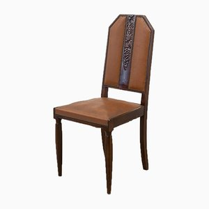 French Art Deco Dining Chairs, 1940s, Set of 4