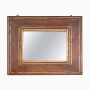 Antique Inlaid Walnut Wall Mirror, 1820s