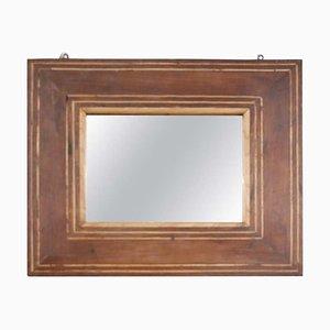 Specchio da parete antico in noce intarsiato, inizio XIX secolo