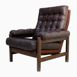 Mid-Century Danish Leather Armchair, 1960s