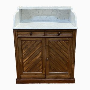 Coiffeuse Pitch PIne and Marble Top, 1930s