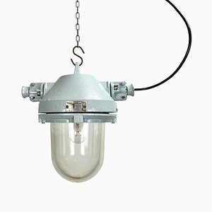 Industrial Explosion Proof Gray Ceiling Lamp from Elektrosvit, 1970s