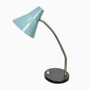 Industrielle Tischlampe mit grauem Schwanenhals, 1960er