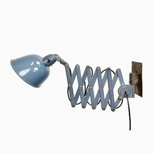 Vintage Industrial Grey Enamel Wall Lamp from Siemens, 1930s