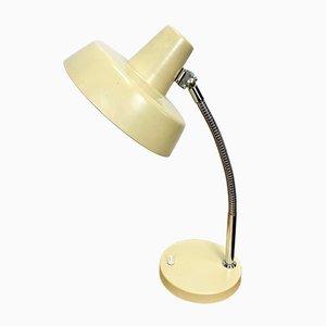 Beigefarbene Tischlampe mit Schwanenhals, 1960er