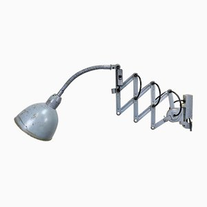 Industrial Gray Scissor Wall Lamp from Elektroinstala, 1960s