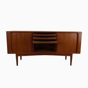 Mid-Century Teak Sideboard with Sliding Door from Bernhard Pedersen & Søn, 1960s