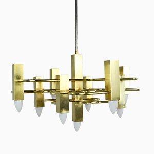 Lámpara de araña Mid-Century de Gaetano Sciolari para Sciolari, años 60