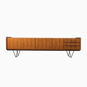 Walnuss Furnier Sideboard, 1950er