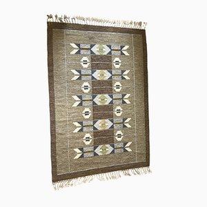 Mid-Century Flatweave Carpet by Ingegerd Silow, 1950s