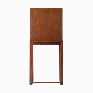 Vintage Art Deco Mahogany Secretaire Cabinet