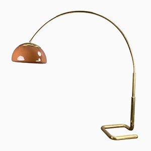 Large Arc Floor Lamp in Brass from Cosack, Germany, 1970s