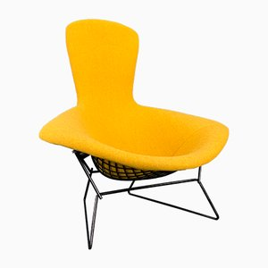 Mid-Century Yellow Bird-Chair Lounge Chair by Harry Bertoia for Knoll Inc. / Knoll International