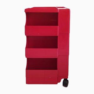 Red Boby Cart by Joe Colombo for Bieffeplast, 1968