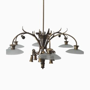 Mid-Century 12-Light Chandelier by Pietro Chiesa for Fontana Arte