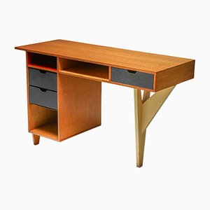 Mid-Century Dutch Modernist Desk, 1950s