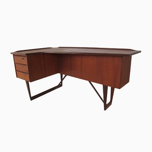 Danish Teak Boomerang Desk by Peter Løvig Nielsen for Løvig, 1950s