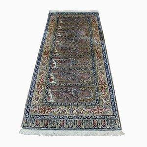 Turkish Hand-Knotted Kayseri Silk Carpet, 1950s